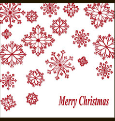 happy christmas with red vector image