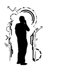 human technology vector image