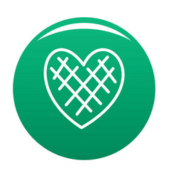 Impressionable heart icon green vector
