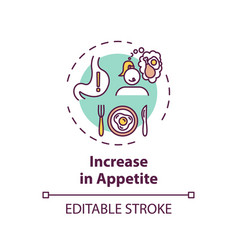 Increase in appetite concept icon vector