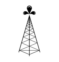 isolated oil tower icon vector image