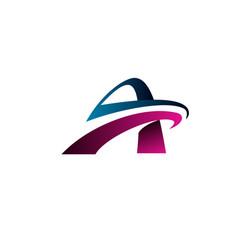 letter a logo technology logo design concept vector image