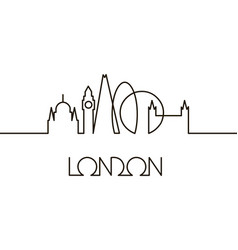 Linear of london city vector