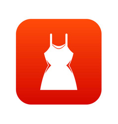 little dress icon digital red vector image vector image