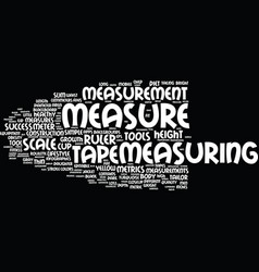Measurement word cloud concept vector