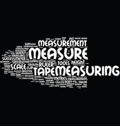 measurement word cloud concept vector image