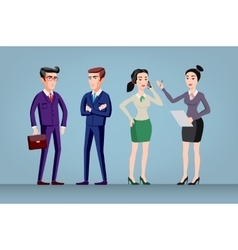Men and women in office wear full length vector