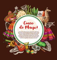 Mexican holiday cinco de mayo death festival vector