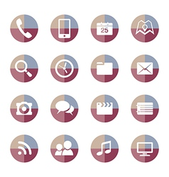 Mobile Applications icons set 2 vector image