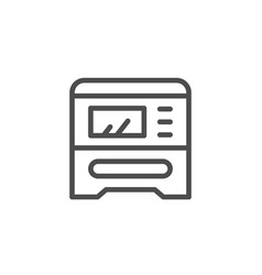 multifunctional printing device line icon vector image