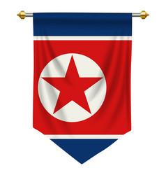 North korea pennant vector