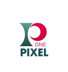 One pixel logo vector