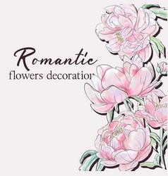 peony wedding pink floral design vector image