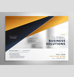 professional gold geometric brochure design vector image