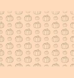 pumpkins seamless pattern autumn background vector image