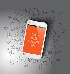 Realistic smartphone template with background vector image