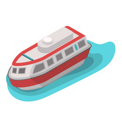 rescue water boat icon isometric style vector image