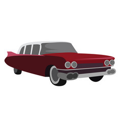 Retro cadillac on white background vector