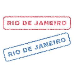Rio de janeiro textile stamps vector
