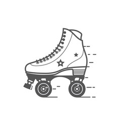 Roller skate icon flat related icon for vector