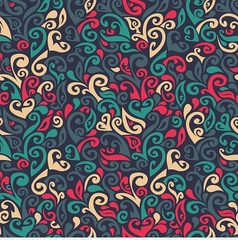 seamless pattern consists of colorful doodles vector image