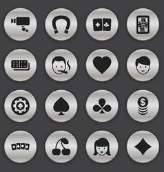 Set 16 editable gambling icons includes vector