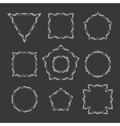 Set of ten different retro floral frame vector