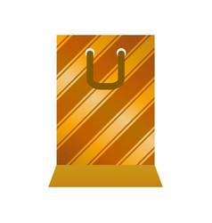 shopping gift bag vector image