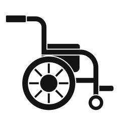 Side view wheelchair icon simple style vector