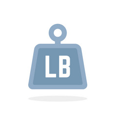 simple blue lb icon like pound vector image