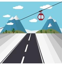 Ski Lift Gondola vector image