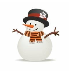 Snowman isolated vector