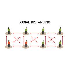 social distancing avoiding vector image
