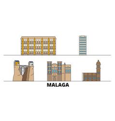 spain malaga flat landmarks vector image