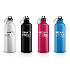 Sports stainless bottles bike metal reusable vector