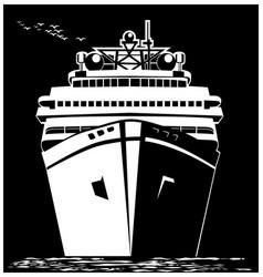 Stylized ocean liner vector