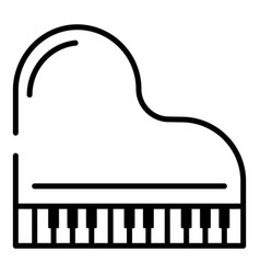 top view grand piano icon outline style vector image