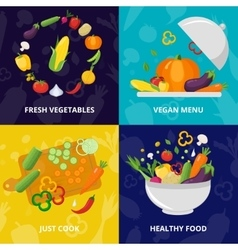 Vegetables Isolated Icon Set vector image