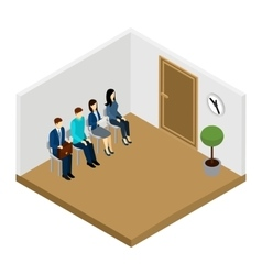 Waiting For Interview vector image