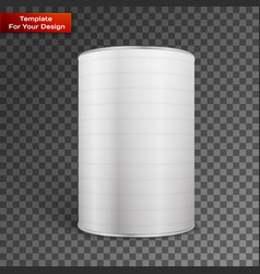 white blank tincan metal tin can vector image