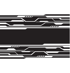 White line circuit futuristic technology on black vector
