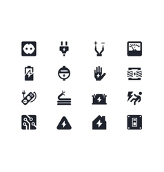 Electricity icons Lyra series vector image