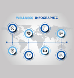 infographic design with wellness icons vector image