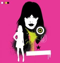 model pop grunge illustration vector image vector image