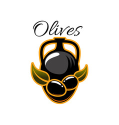 Olive oil pitcher isolated icon vector