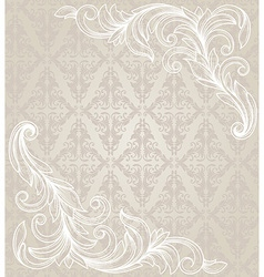 ornate element in Victorian style for design vector image