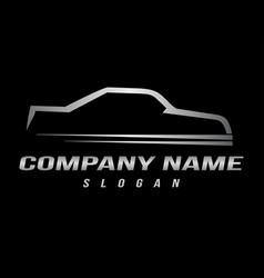 sport automobile logo black background vector image