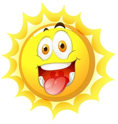 Sun with happy face vector image
