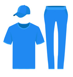 T-shirt pants and baseball cap design templates vector