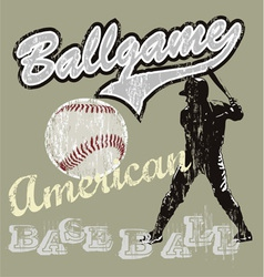 ball game baseball vector image vector image